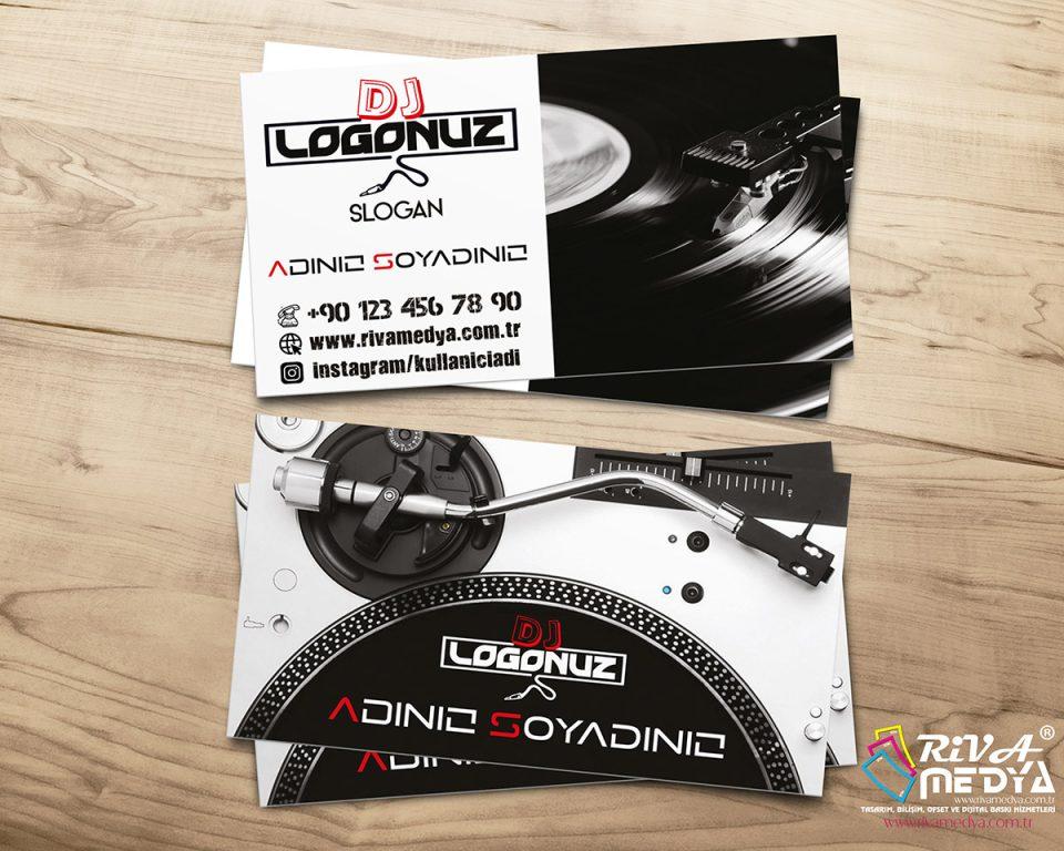 DJ Kartvizit - Hazır Kartvizit Tasarımı