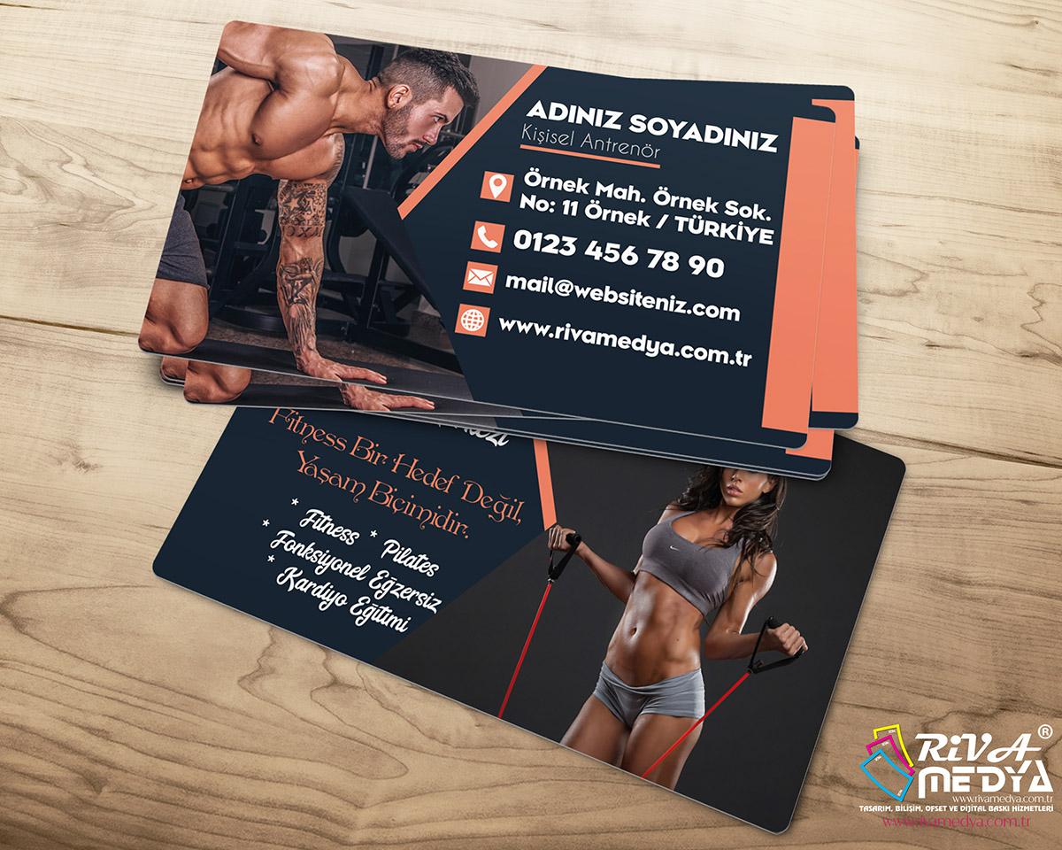 Fitness Kartvizit - Hazır Kartvizit Tasarımı