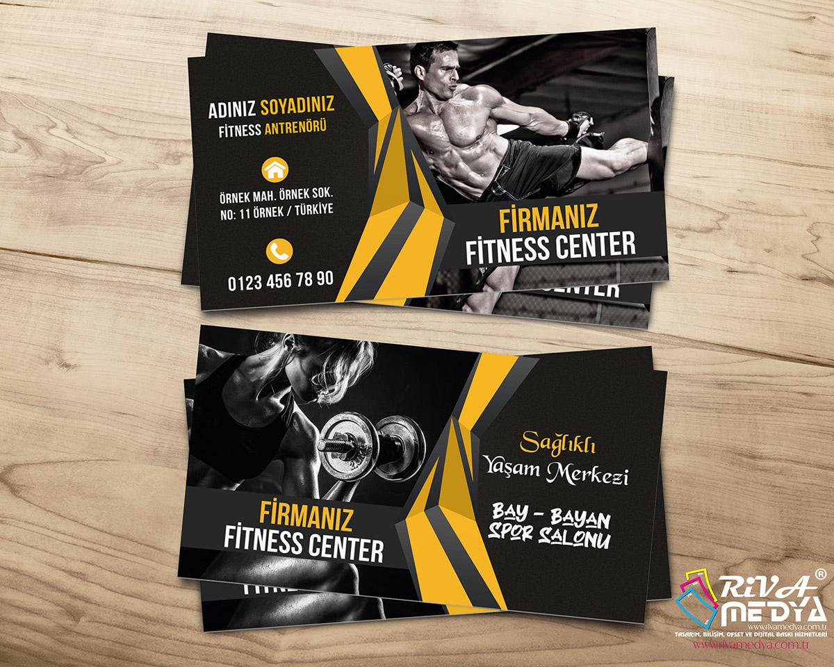 Fitness Center Kartvizit - Hazır Kartvizit Tasarımı