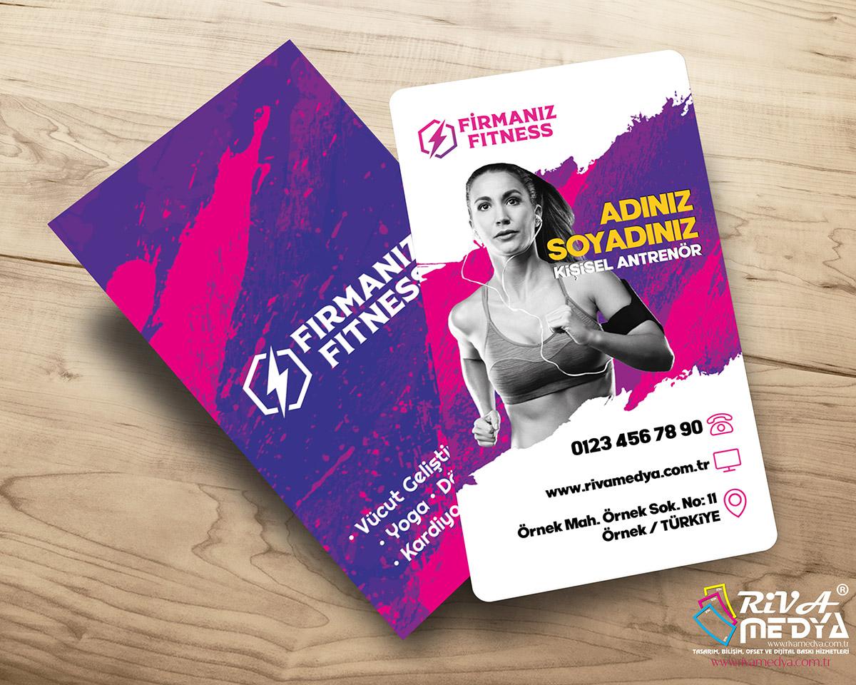 Fitness Antrenörü Kartvizit - Hazır Kartvizit Tasarımı