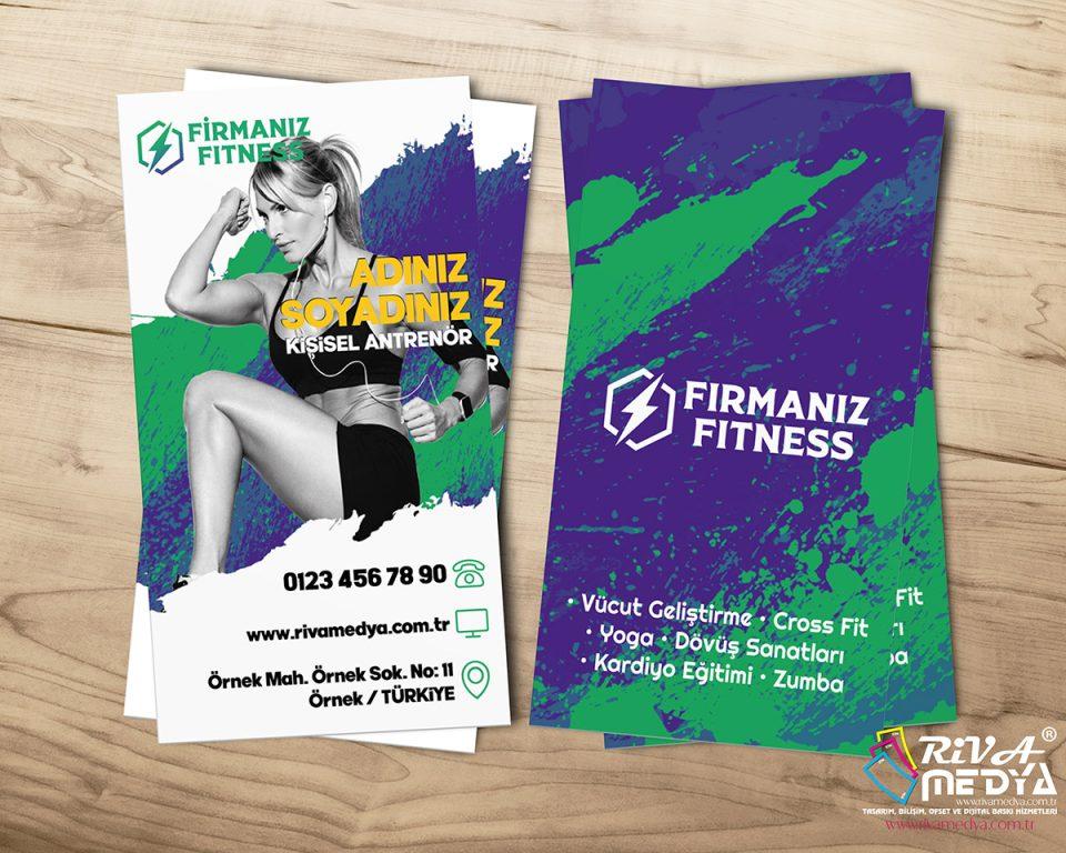 Fitness Merkezi Kartvizit - Hazır Kartvizit Tasarımı