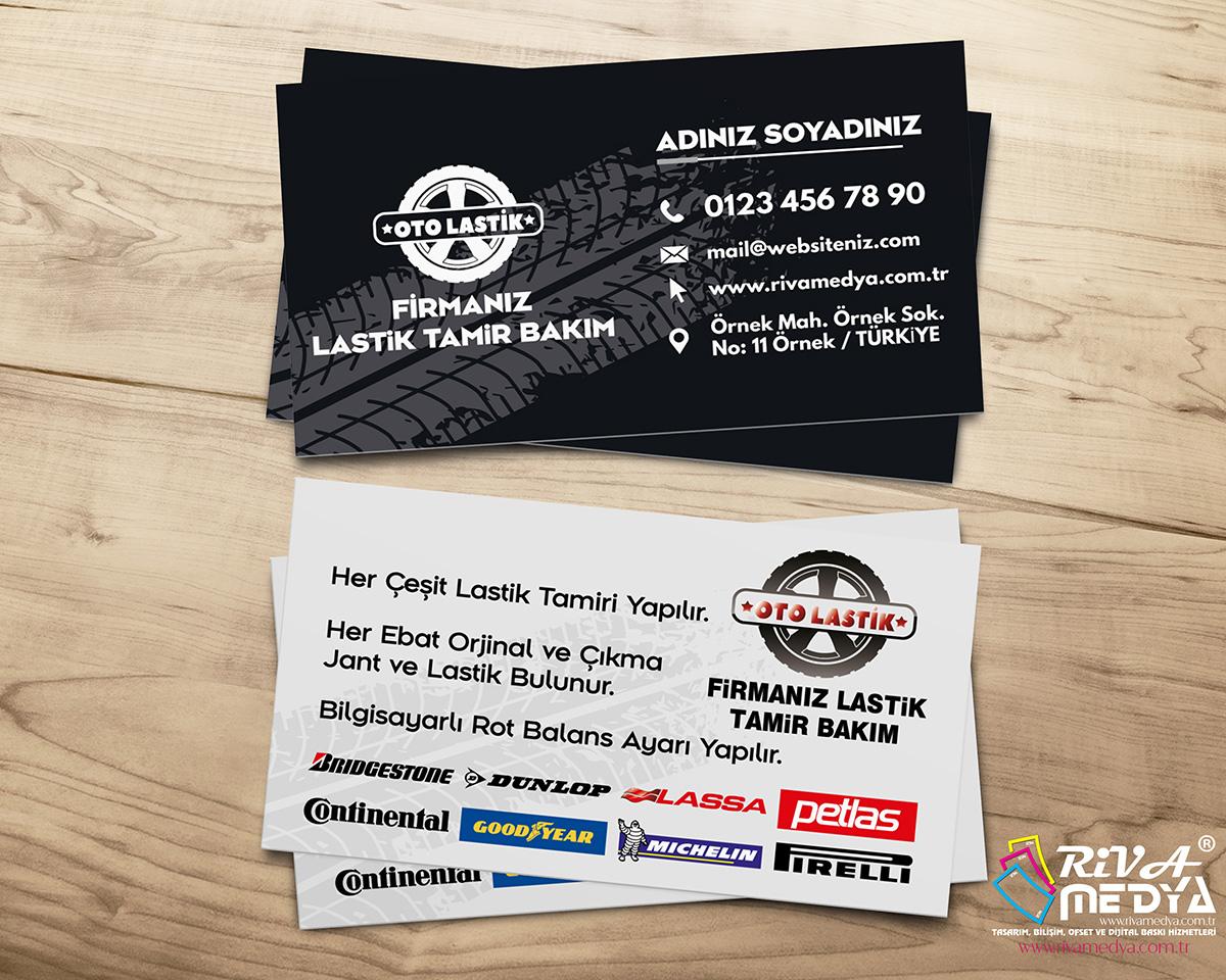 Lastik Tamir & Bakım Kartvizit - Hazır Kartvizit Tasarımı
