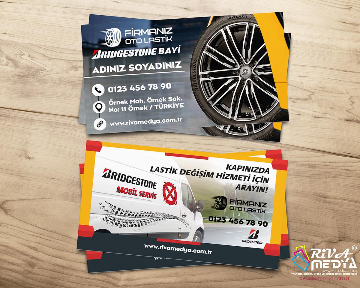Bridgestone Yetkili Bayi Kartvizit - Hazır Kartvizit Tasarımı