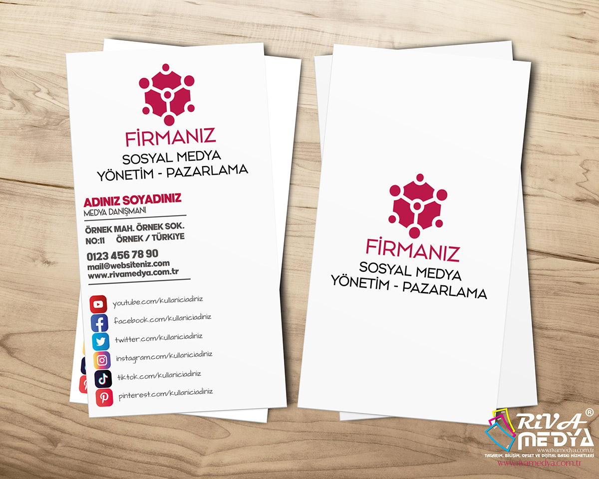 Sosyal Medya Danışmanı Kartvizit - Hazır Kartvizit Tasarımı