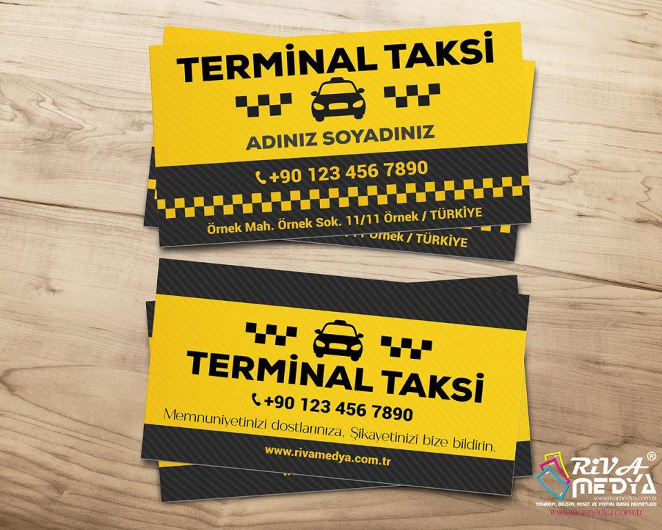 Terminal Taksi Kartvizit - Hazır Kartvizit Tasarımı