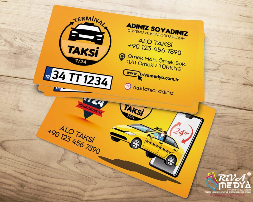 Terminal Taksi Durağı Kartvizit - Hazır Kartvizit Tasarımı