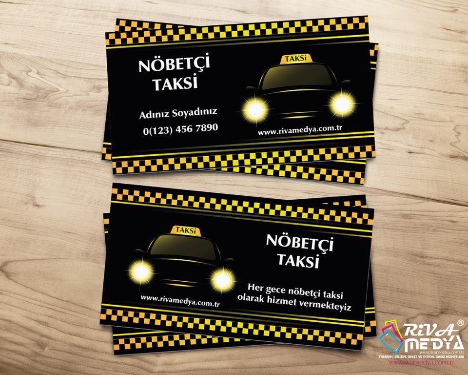 Nöbetçi Taksi Kartvizit - Hazır Kartvizit Tasarımı