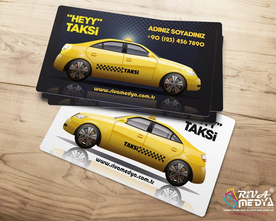 Heyy Taksi Kartvizit - Hazır Kartvizit Tasarımı