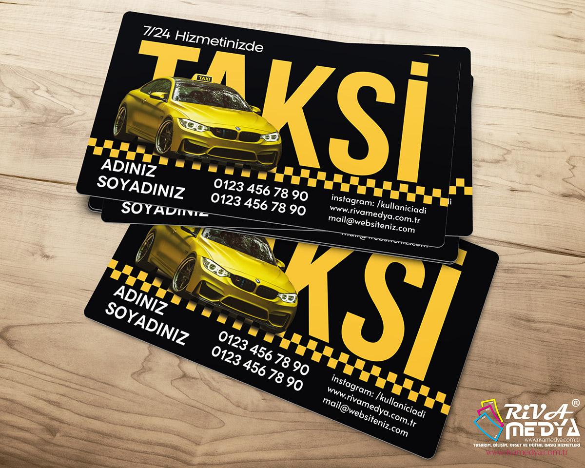 Ekonomik Taksi Kartvizit - Hazır Kartvizit Tasarımı