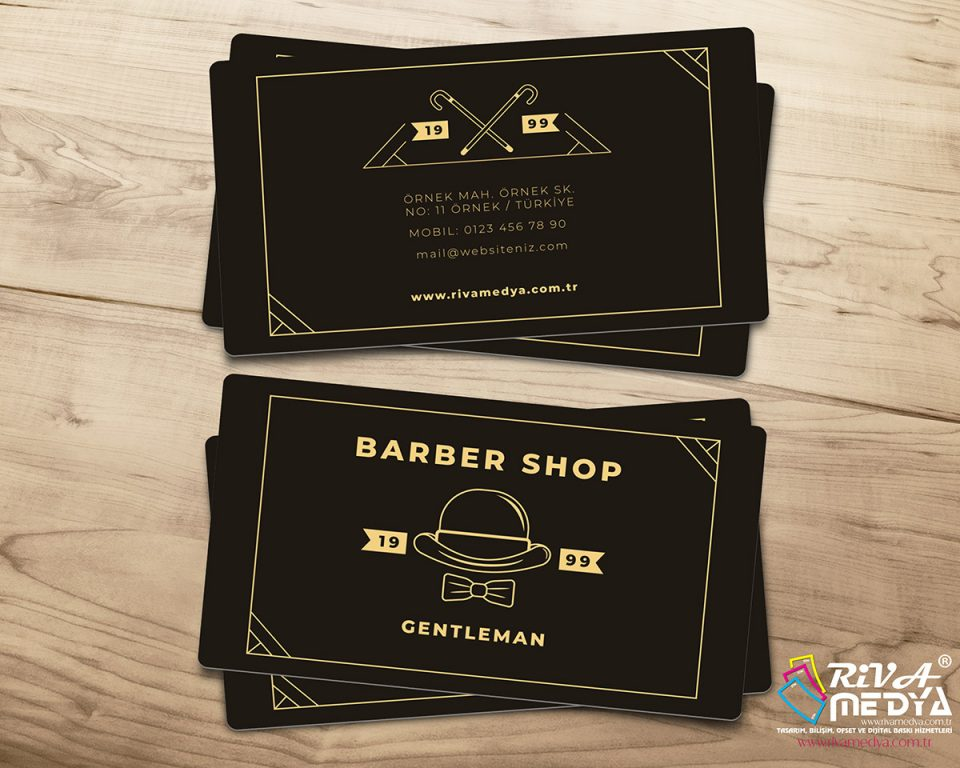 Barber Shop Kartvizit - Hazır Kartvizit Tasarımı