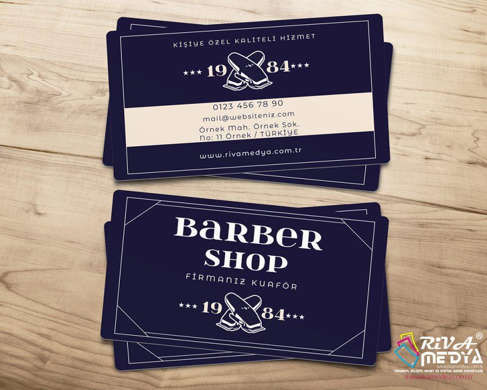 Vintage Barber Shop Kartvizit - Hazır Kartvizit Tasarımı