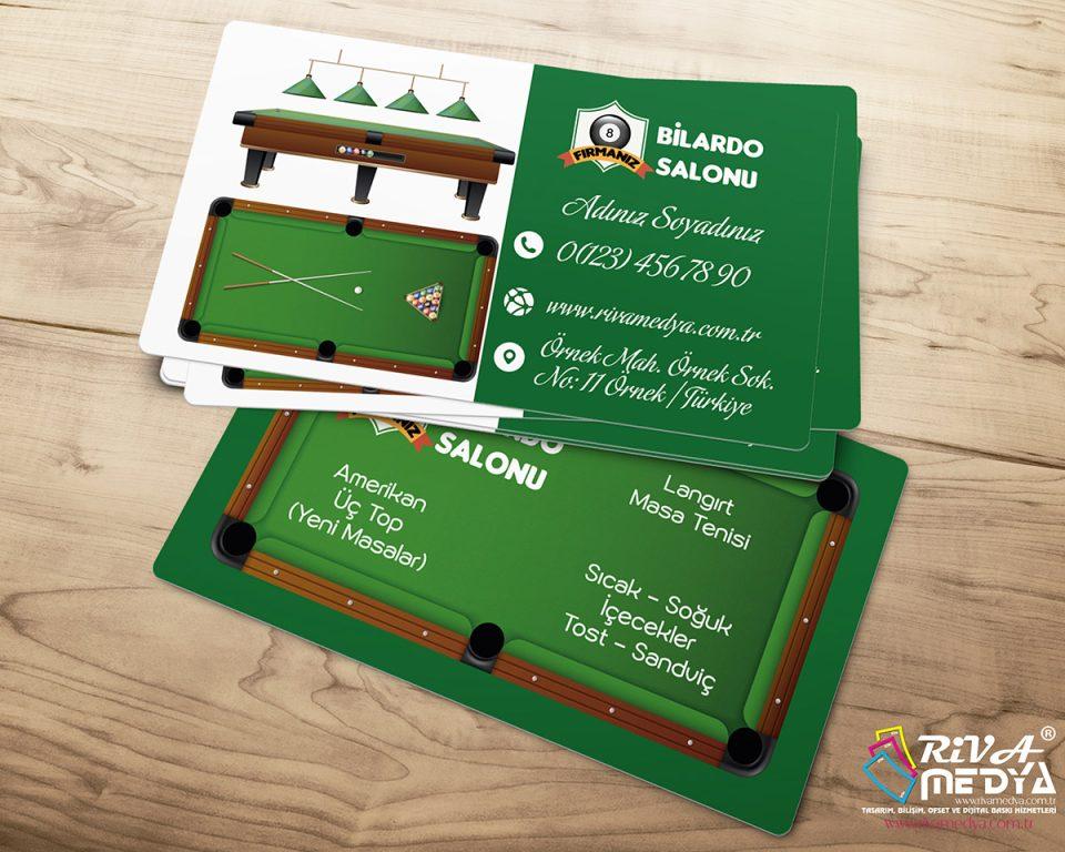 Bilardo Salonu 02 Kartvizit - Hazır Kartvizit Tasarımı