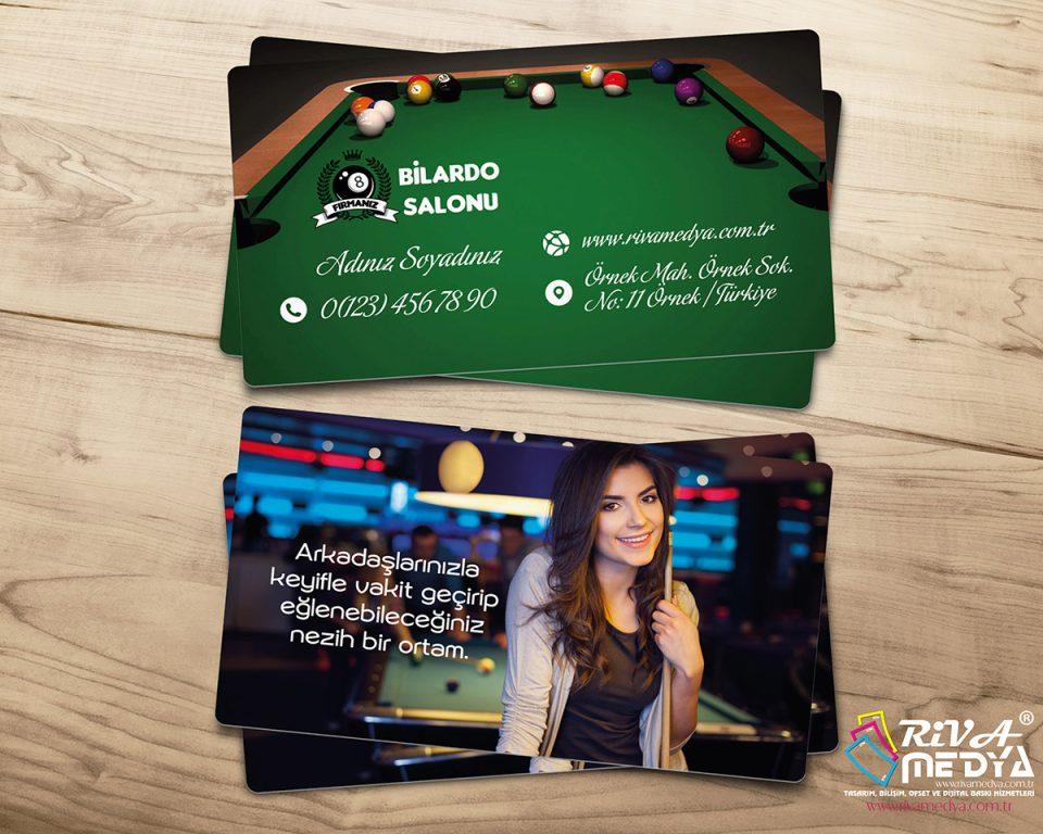 Bilardo Cafe 02 Kartvizit - Hazır Kartvizit Tasarımı