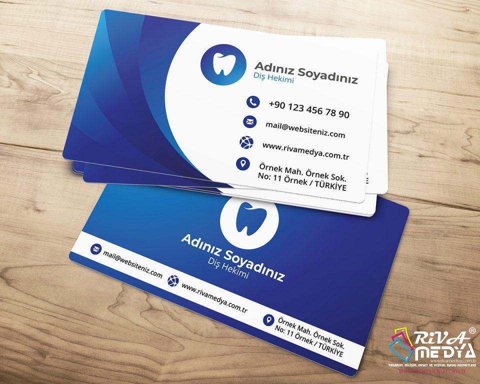 Diş Hekimi Kartvizit - Hazır Kartvizit Tasarımı
