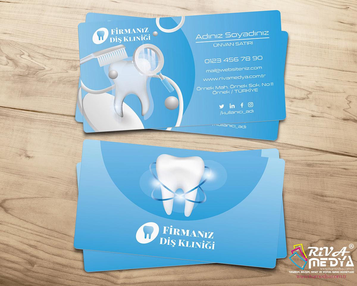 Diş Sağlığı Kliniği Kartvizit - Hazır Kartvizit Tasarımı