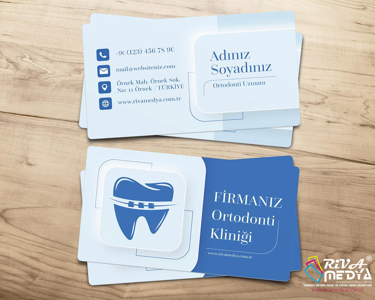 Ortodonti Kliniği Kartvizit - Hazır Kartvizit Tasarımı