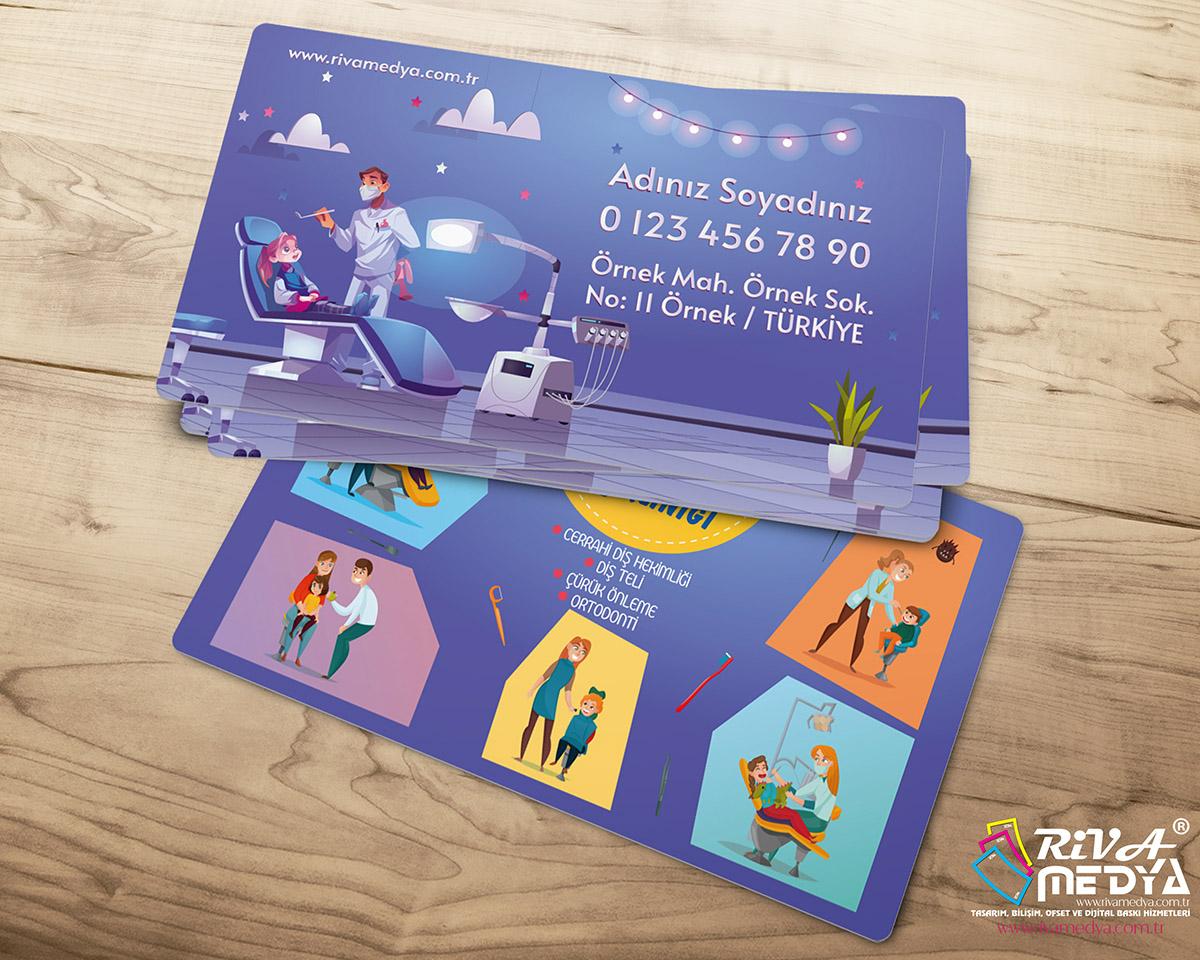 Çocuk Diş Kliniği Kartvizit - Hazır Kartvizit Tasarımı