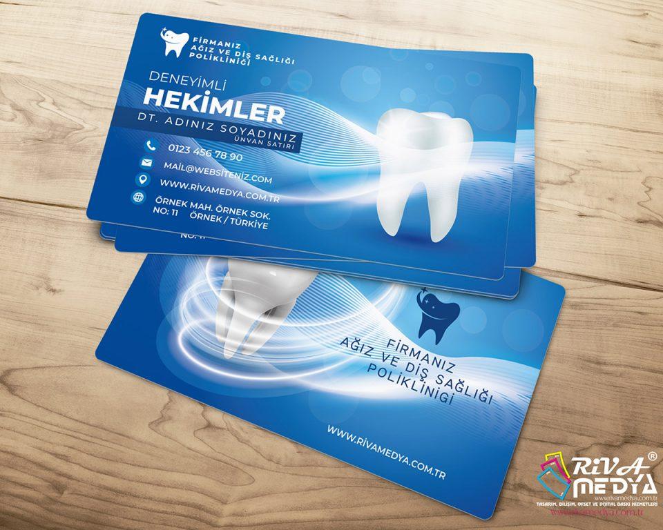Diş Hekimi Modern Kartvizit - Hazır Kartvizit Tasarımı