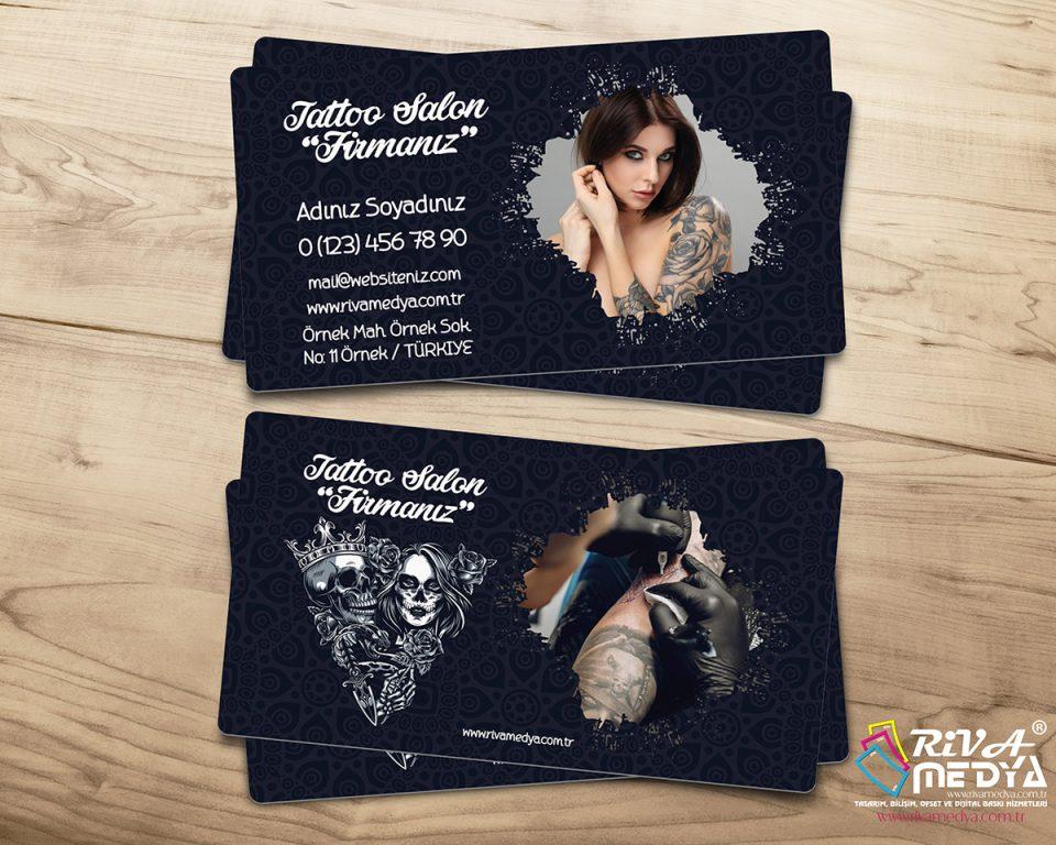 Dövme Salonu Kartvizit - Hazır Kartvizit Tasarımı