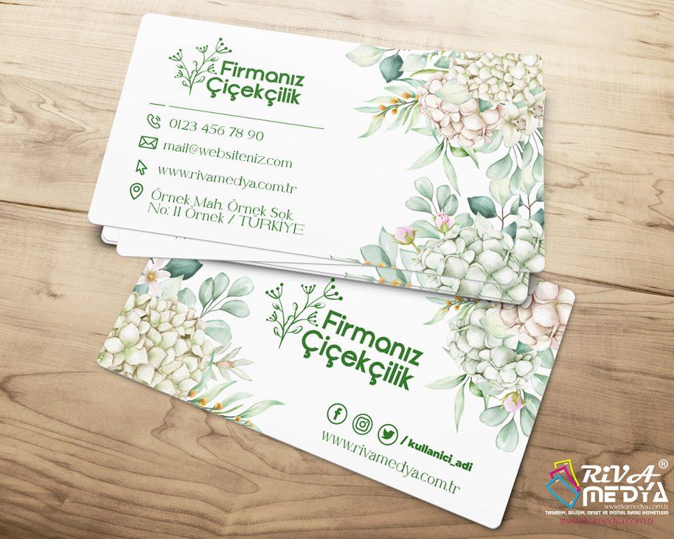 Çiçekçilik Kartvizit – 05 - Hazır Kartvizit Tasarımı