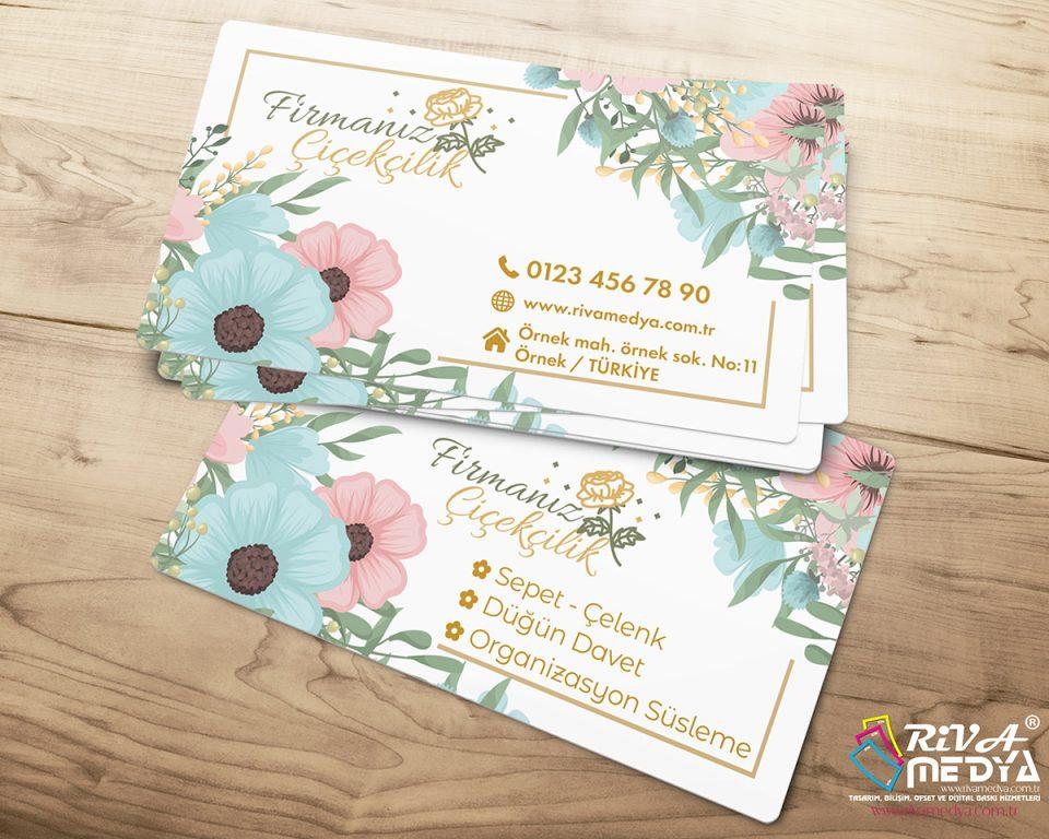 Çiçekçilik Kartvizit – 07 - Hazır Kartvizit Tasarımı