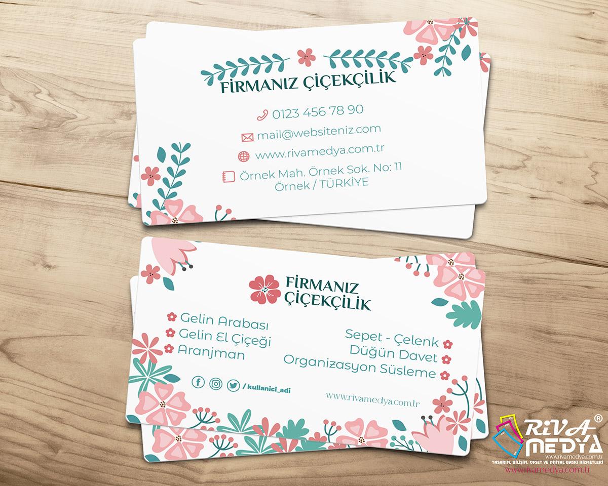 Çiçekçilik Kartvizit – 09 - Hazır Kartvizit Tasarımı