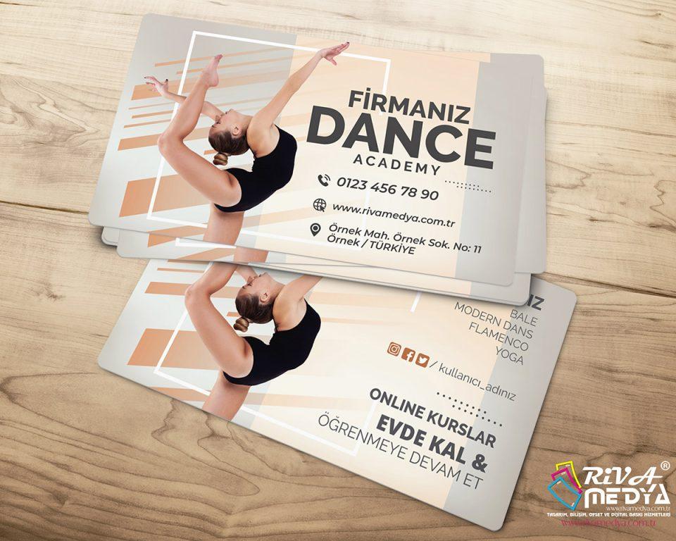 Dance Academy Kartvizit - Hazır Kartvizit Tasarımı