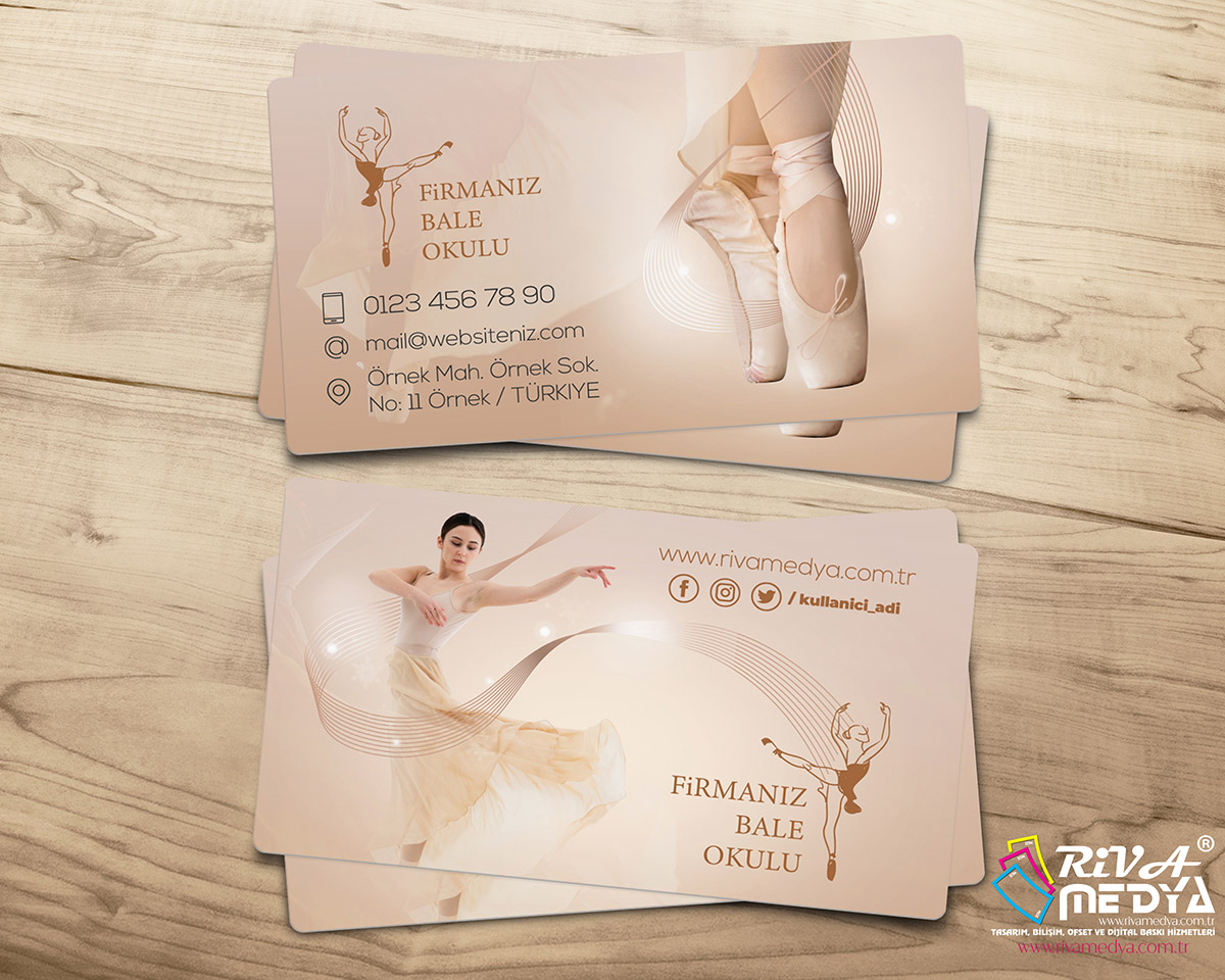 Bale Okulu Kartvizit - Hazır Kartvizit Tasarımı