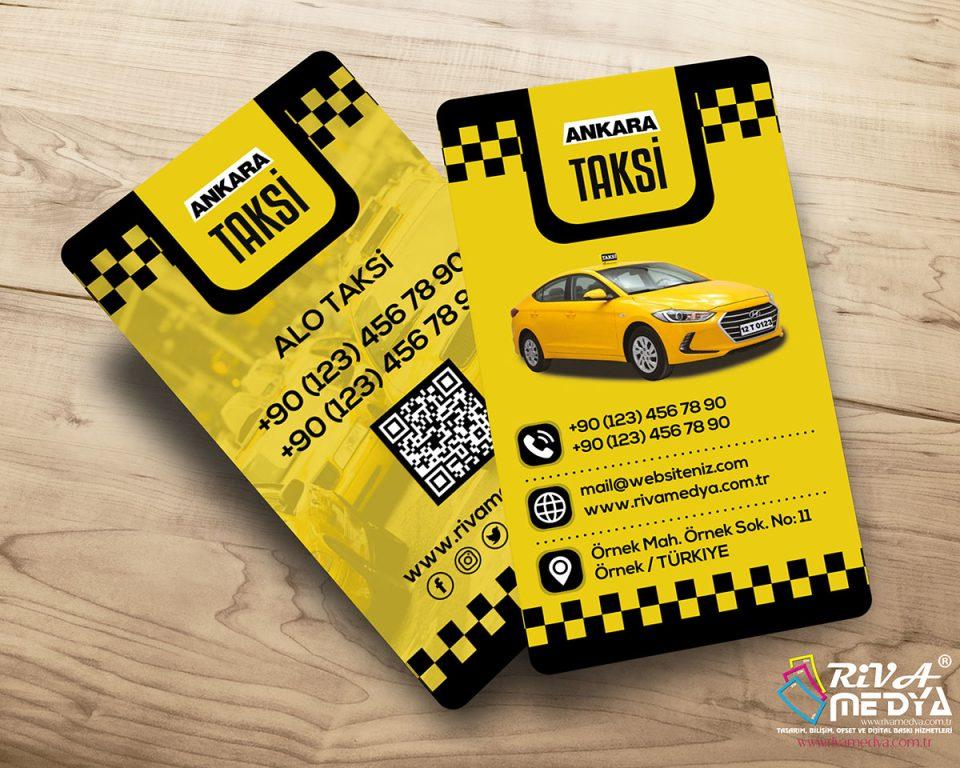 Ankara Taksi Kartvizit - Hazır Kartvizit Tasarımı