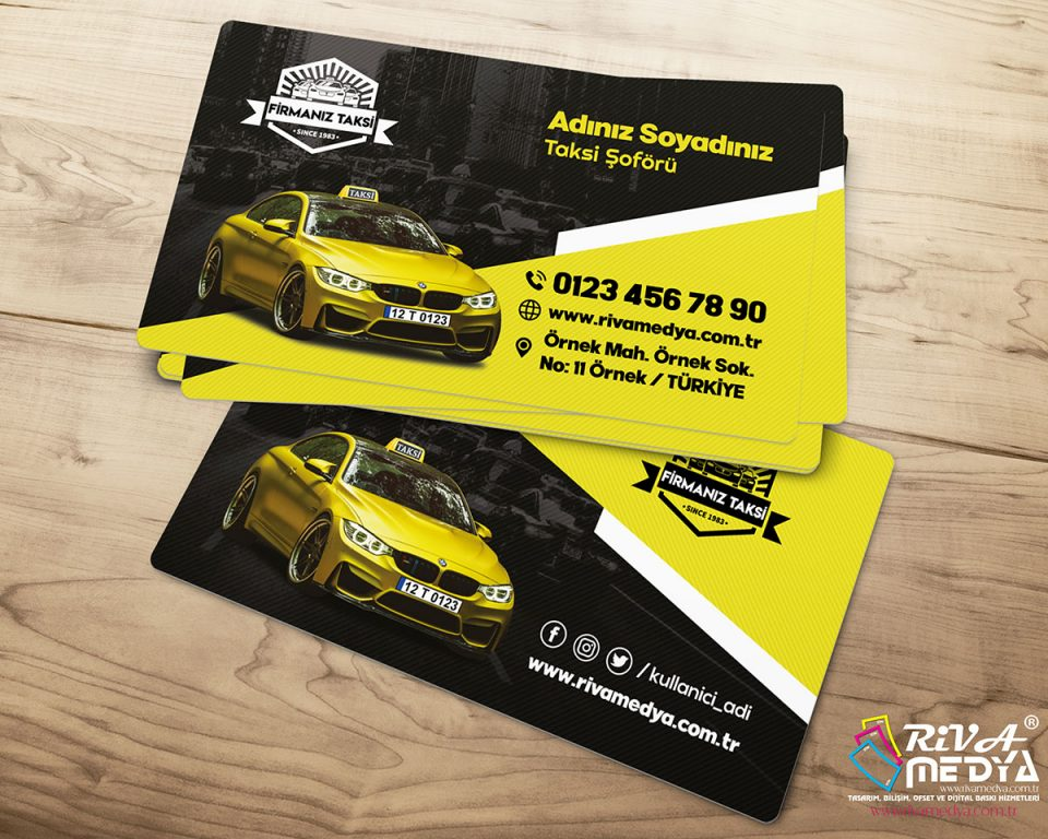 BMW Taksi Kartvizit - Hazır Kartvizit Tasarımı