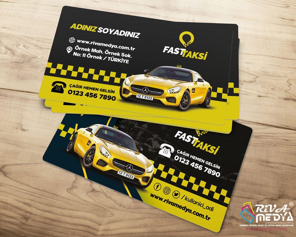 Mercedes Taksi Kartvizit - Hazır Kartvizit Tasarımı
