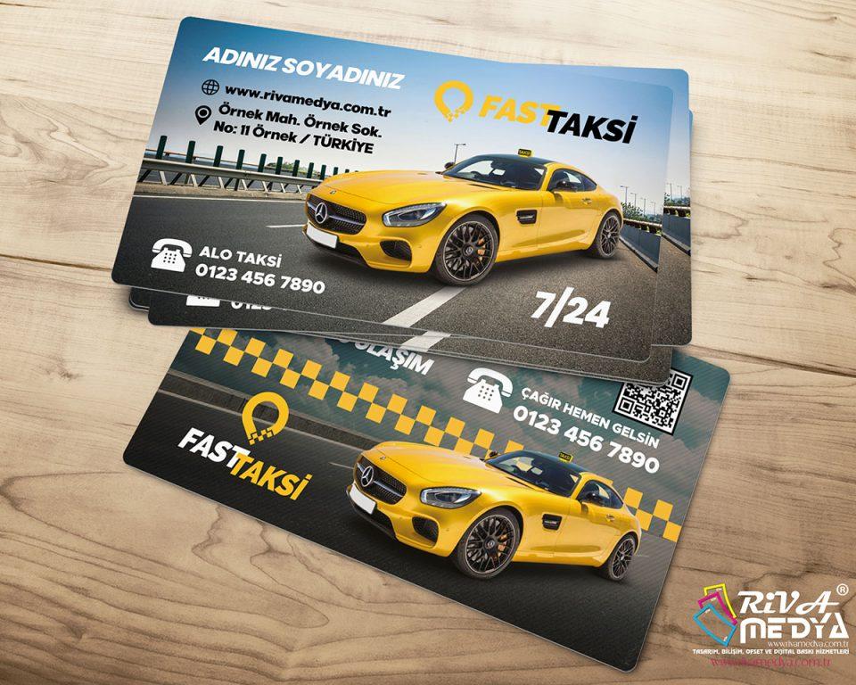 Hazır Taksi Kartvizit - Hazır Kartvizit Tasarımı